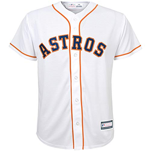 Outerstuff MLB 8-20 Youth Blank Cool Base Home Color Team Jersey (Small 8, Houston Astros) ()