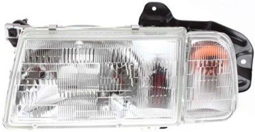 30020200 Headlamp (Crash Parts Plus Left Driver Side Headlight Head Lamp for 1990-1997 Geo Tracker, 98 Chevy Tracker)