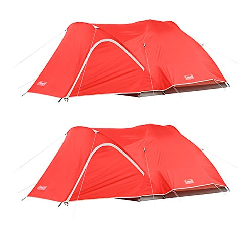 (2) COLEMAN Hooligan 4 Person Camping Dome Tents w/ WeatherTec System - 9' x 7' -  2 x 2000018289