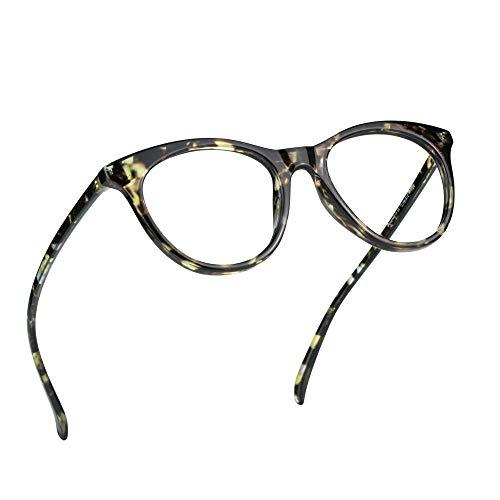 LifeArt Blue Light Blocking Glasses, Computer Reading Glasses, Transparent Lens, Reduce Eyestrain, Stylish for Women and Men (+3.00 Magnification, Black)