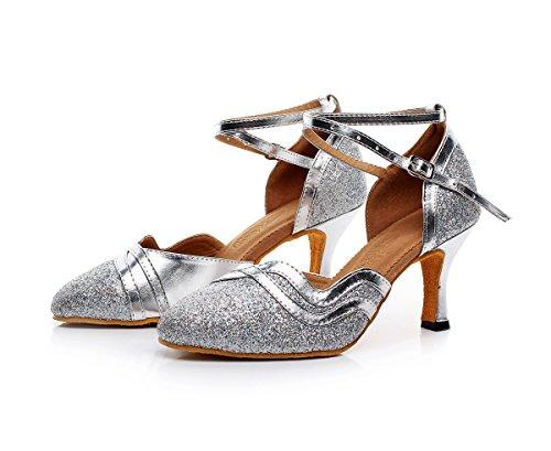 Minitoo - salón mujer Silver-7.5cm Heel