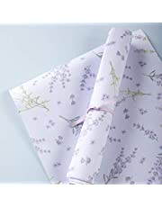 The Lakeside Collection Floral Scented Paper Drawer Liners for Cabinets - 6 Sheets - Lavender