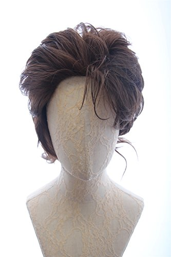 Mans Short Brown Curly Cosplay Wavy Costume Cosplay Wigs