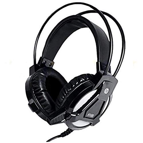HP H100 Over-Ear Wired Headphones