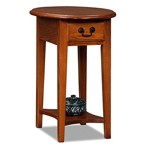 (Leick Oval End Table-Medium Oak)