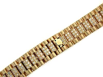 Ladies President Diamond Watch Band for Rolex 13mm