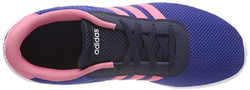 adidas Unisex-Kinder Lite Racer K Gymnastikschuhe, Grau Blau (Collegiate Navy/chalk Pink S18/collegiate Royal)