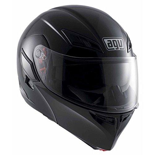 (AGV Numo Modular Motorcycle Helmet (Black, Large))