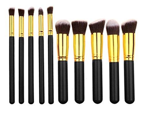 10 Piece Makeup Brushes Set Eyelash Contour Make Up Tool Fou