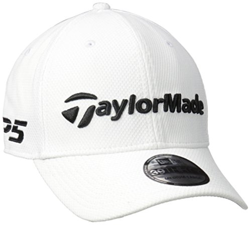TaylorMade Golf 2017 tour new era 39thirty white hat s/m