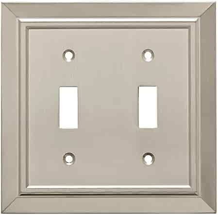 9e73c6d60230 Franklin Brass W35220-SN-C Classic Architecture Double Toggle Switch Wall  Plate/Switch