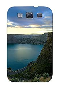 Awesome Design Waterfall Near Lakeside Road Hard Case Cover For Galaxy S3(gift For Lovers) by lolosakes