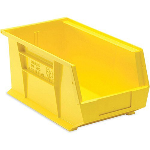 Quantum Ultra Poly Bins - 8-1/4x14-3/4x7'' - Yellow - Lot of 12