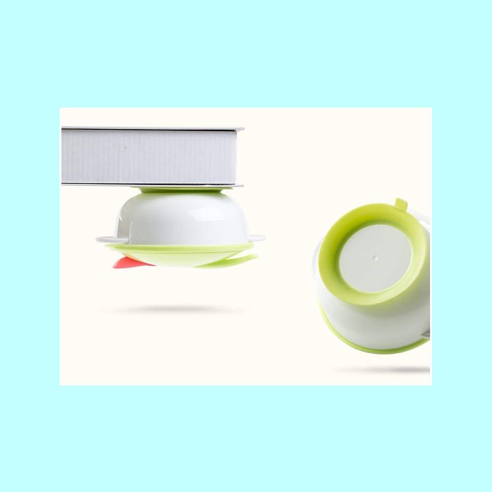 B/éb/é dalimentation en Silicone Souple Ventouse Bowl Set Slip Art de la Table r/ésistant d/étection de temp/érature de Couleur Changement Flatware B/éb/é de Fourchette cuill/ère Bleu