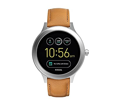 Fossil Men's Brown Leather Strap Q Venture Gen 3 Smart Watch