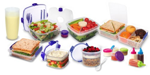 Amazon.com Sistema Klip It Collection Lunch Cube to Go Food Storage Container 47.3-Ounce/ 6 Cups Lunch Boxes Kitchen u0026 Dining  sc 1 st  Amazon.com & Amazon.com: Sistema Klip It Collection Lunch Cube to Go Food ... Aboutintivar.Com