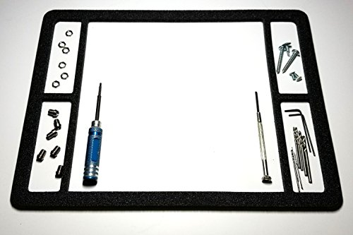 Magnetic Mat, Screw Catcher with 4 Side Corrals (12