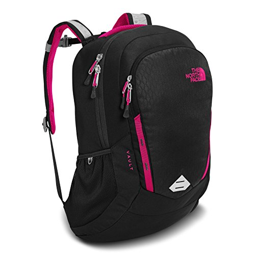The North Face Side Zip Backpack - The North Face Women's Vault - TNF Black Emboss & Petticoat Pink - OS (Past Season)