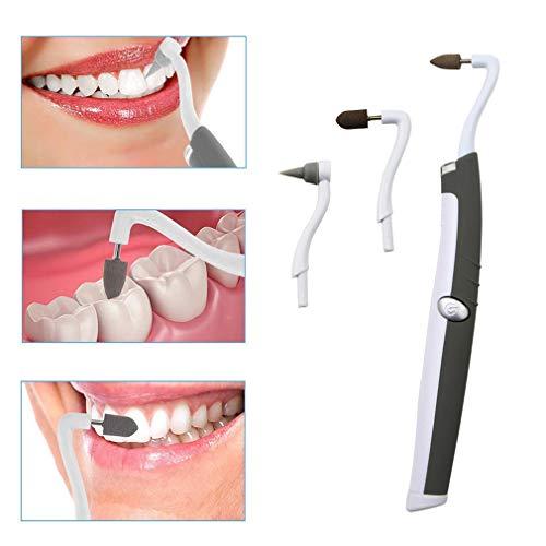 YQST Quitamanchas dentales Sonic Vibration 3 Tipos Diferentes de Cabezales de amolado con Dientes de luz LED Placa de Pulido...