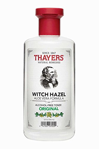 - Thayers Witch Hazel Original Facial Toner - 12 Fluid Ounce Paraben Free, Alcohol Free, Organic Toner with Aloe Vera Formula. Beauty and Skin Care Essentials