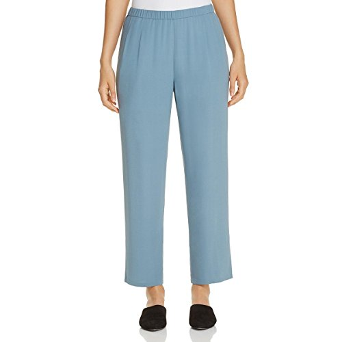 Eileen Fisher Womens Silk Ankle Pant Ankle Pants Blue (Eileen Fisher 100% Silk)