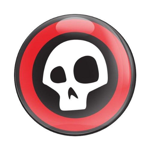 "GoBadges CD0485 Skull 101-3"" Magnetic Grill Badge/UV Stable & Weather-Proof/Works Grill Badge Holder"