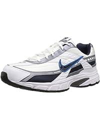 Men's Initiator Running Shoe, White/Obsidian/Metallic Cool Grey, 9.5 2E US