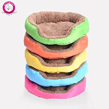 Amazon.com : WeMore(TM) 5 Colors Puppy Dog Bed Soft Fleece Cozy Warm Dog Bed Indoor 100% Cotton Pet Dog Cushion Cama Perro S/M/L : Pet Supplies