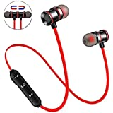 Wireless Earbuds Earphones Bluetooth Headphones, Sport Sweatproof in-Ear Earbuds Magnetic Headset Microphone HiFi Stereo Noise Cancelling Running HD Bass Earpiece Android Gym Workout