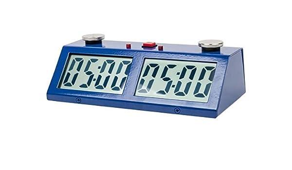 Profesional torneo ajedrez juego reloj azul: Amazon.es: Electrónica