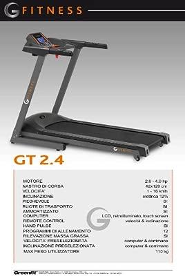 G-Fitness GT 2,4 Cinta de Correr: Amazon.es: Deportes y aire libre