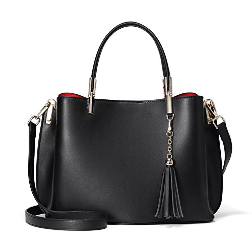 Leather Handbags For Women Designer Ladies Purses Satchel Shoulder Tote Bag WIth Tassel, Italian Stylish But I Italian Handbag