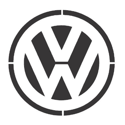 VW LOGO Airbrush, A4 . Wall Art , Paint Stencil, Genuine Mylar Re-Useable 125 micron cfsupplies