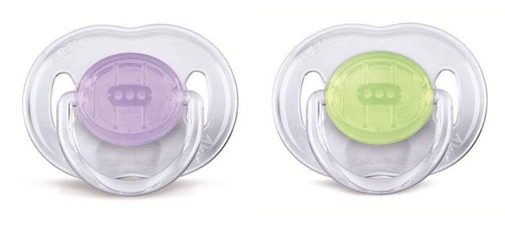 farblich sortiert Philips Avent Schnuller durchsichtige Designs