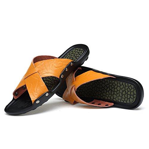 Color Sandali antiscivolo interni per EU 42 shoes 2018 Mens spiaggia Giallo Dimensione esterni Giallo da uomo e PExSE4Rqvw