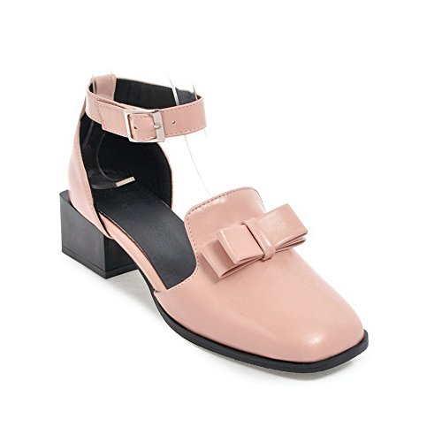 Pink BalaMasa Square Light Toe Urethane Sandals Weight Toe Sandals Closure No Womens Closed ASL04506 anaOAS