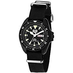 "ZERONE Crossover Bounty Hunter ""BxH 03"" IP Black Rotating Bezel Analogue Watch"