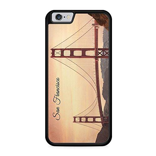 San Francisco Schriftzug Golden Gate Bridge Foto - Hülle für iPhone 6 & 6s SILIKON Handyhülle Case Cover Schutzhülle Hardcase - USA Amerika Fotografie Städte Stadt Reisen Schöne Bedruckte Besondere