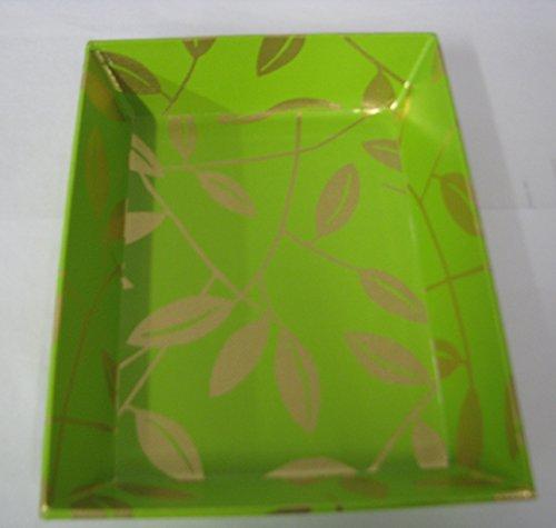 (Hallmark SOM2609 Angled Tray Green With Gold Leaf)