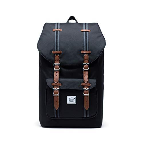 Herschel Little America Backpack, Black/Tan, One Size