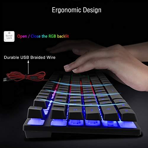 Amazon.com: BlueFinger - Juego de teclado RGB para juegos y ...