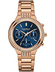 Caravelle New York Womens 44L181 Analog Display Quartz Rose Gold Watch