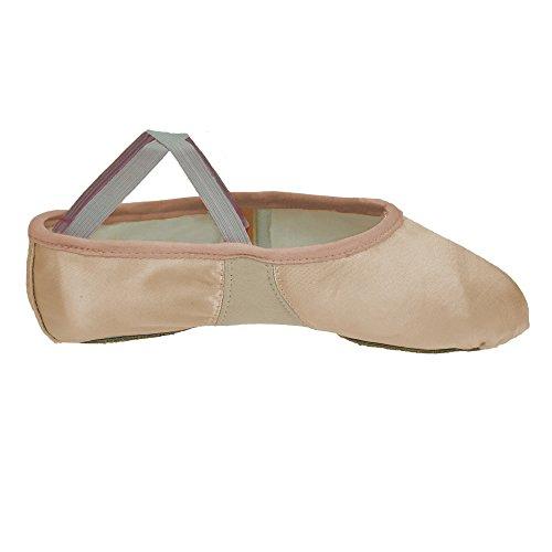 Starlite Flexi Satin Ballet Shoes, Split Sole Pink