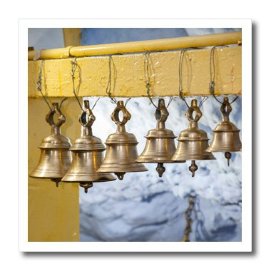 Danita Delimont - Temples - India, Dehradun. Temple Bells, Tapkeshwar Hindu Temple. - 6x6 Iron on Heat Transfer for White Material (ht_206688_2)