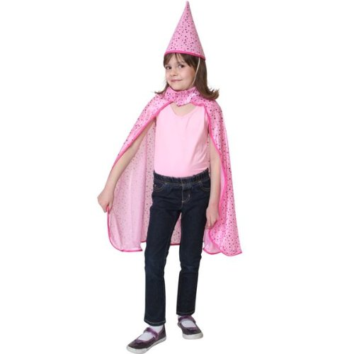 Magician Cape and Hat with Pink Stars ()