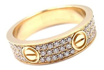 78744ed1e4643 Amazon.com: CARTIER 18K YELLOW GOLD PAVE NATURAL DIAMOND WEDDING ANNIVERSARY  WOMEN LOVE BAND RING,ALL US SIZE 5 TO 12 AVAILABLE: Everything Else