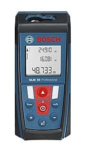 Bosch GLM 50 - Nivelador láser (14.4 cm, 5.3 cm, 3.1 cm) Negro, Azul, Rojo