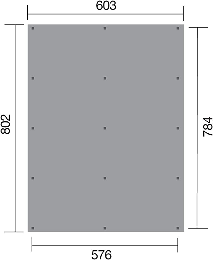Weka 618 - Tejado Plano Doble 3 con Chapa Trapezoidal.: Amazon.es ...