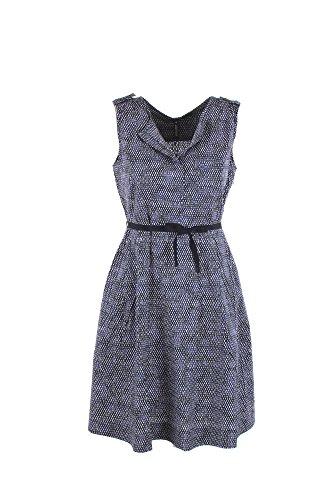 Dress Vestito Blu Po90 Donna W's bianco Pocket 1519 Popeline Woolrich Wwabi0386 fA781wxq