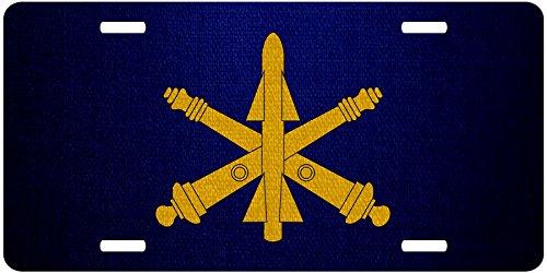 ExpressItBest Premium Aluminum License Plate - U.S. Army Air Defense Artillery, branch insignia